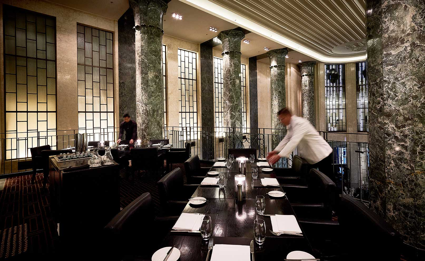 The upstairs balcony dining area.Image courtesy of The Rockpool Dining Group.