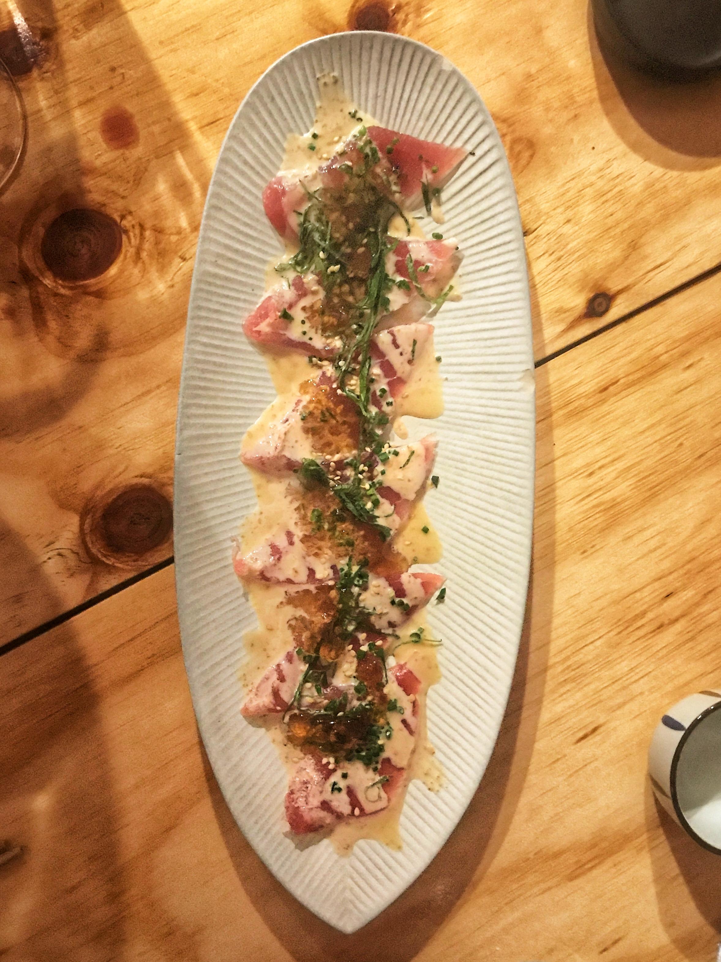 Tuna Sashimi w Ponzu Jelly