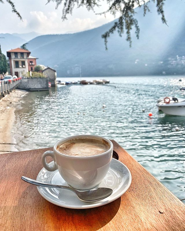 Da Luciano became a daily morning routine during our stay at Lake Como, Bellissimo!