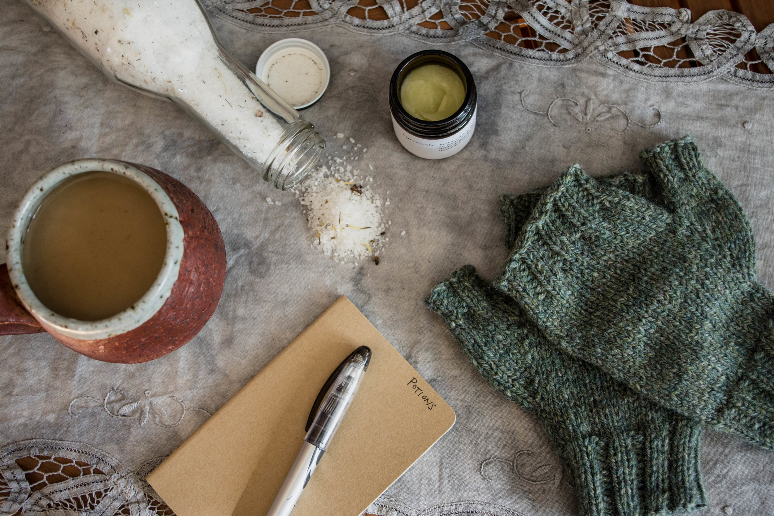 making: surviving the transitional weather with wool and plants