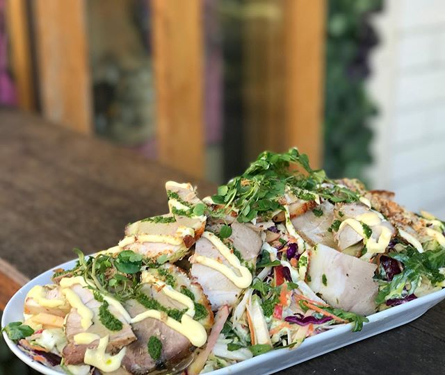 Roast pork and apple slaw salad! Get in quick, it won't last long! Open till 2pm today 👌🏻