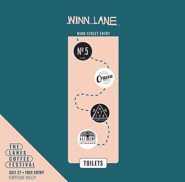 The lanes coffee festival! Happening this Saturday from 10am-10pm! Get your coffee fix and more! Head over to @thelanescoffeefestival for more details!