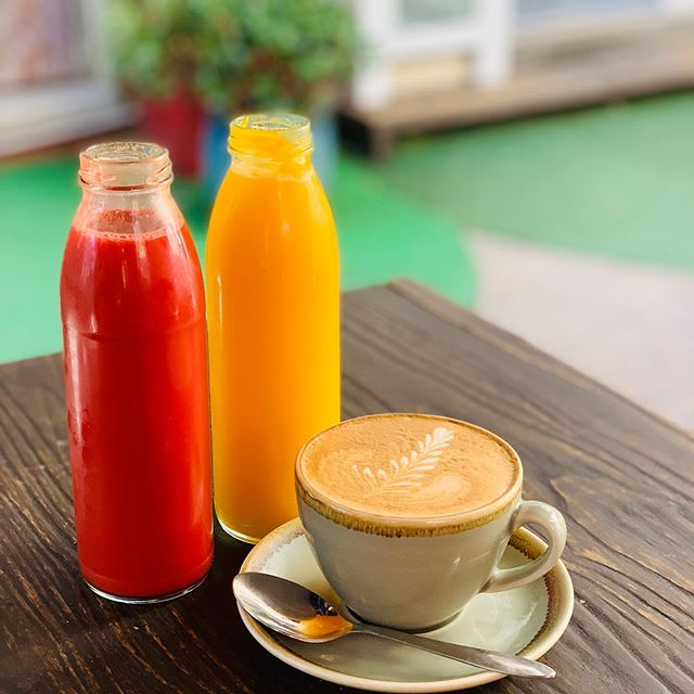 Starting to warm up, We now offer fresh coldpress juices made Daily! #coffee #no5cafe #winnlane #fortitudevalley