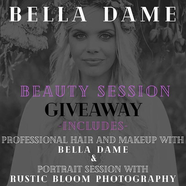 📸💋BEAUTY + PORTRAIT SESSION GIVEAWAY🖤✨ Enter for your chance to win this Beauty session package valued at over $700!  Here's how: ✨LIKE this photo ✨FOLLOW @belladamelash and @rusticbloomphotography ✨TAG at least 3 friends ✨BONUS ENTRIES share on social media and get 3 extra entries, and Don't forget to tag us 🌟 🖤🖤🖤 Giveaway Includes: Hair and Makeup for 1 person + a 1 hour Outdoor Portrait session (includes Couples, High School Seniors, Maternity, and Families of 6 or less) and cannot be applied for credit towards weddings or elopements. ***Contest will end on January 20th, 2019 and winner will be announced the following day. Session will take place in Lincoln City, Oregon and must be scheduled sometime in 2019.  GOOD LUCK!