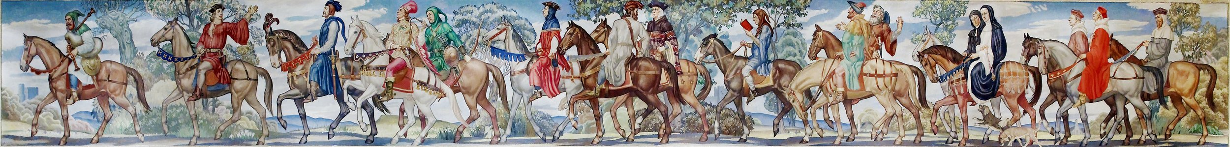 Canterbury tales mural by Ezra Winter. North Reading Room, west wall, Library of Congress John Adams Building, Washington, D.C.