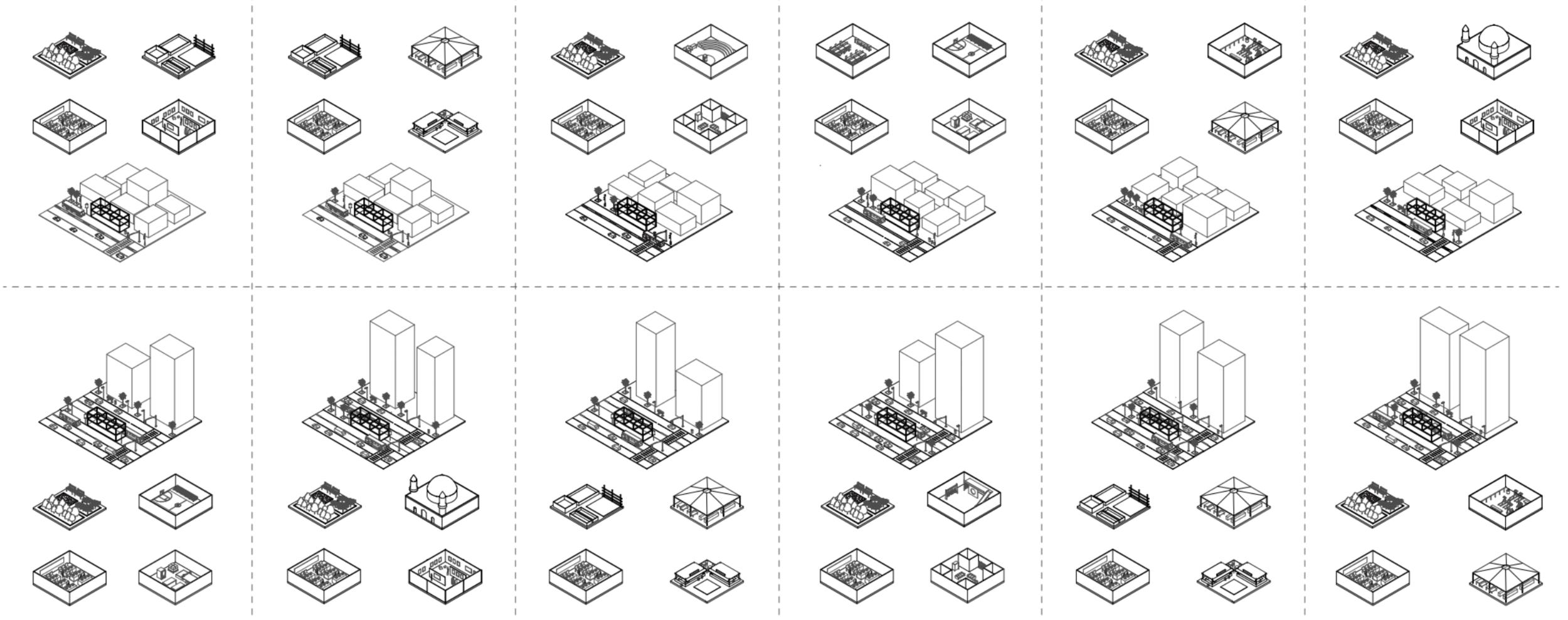 Illustration of programs and workshops design in each  LINK!  Station