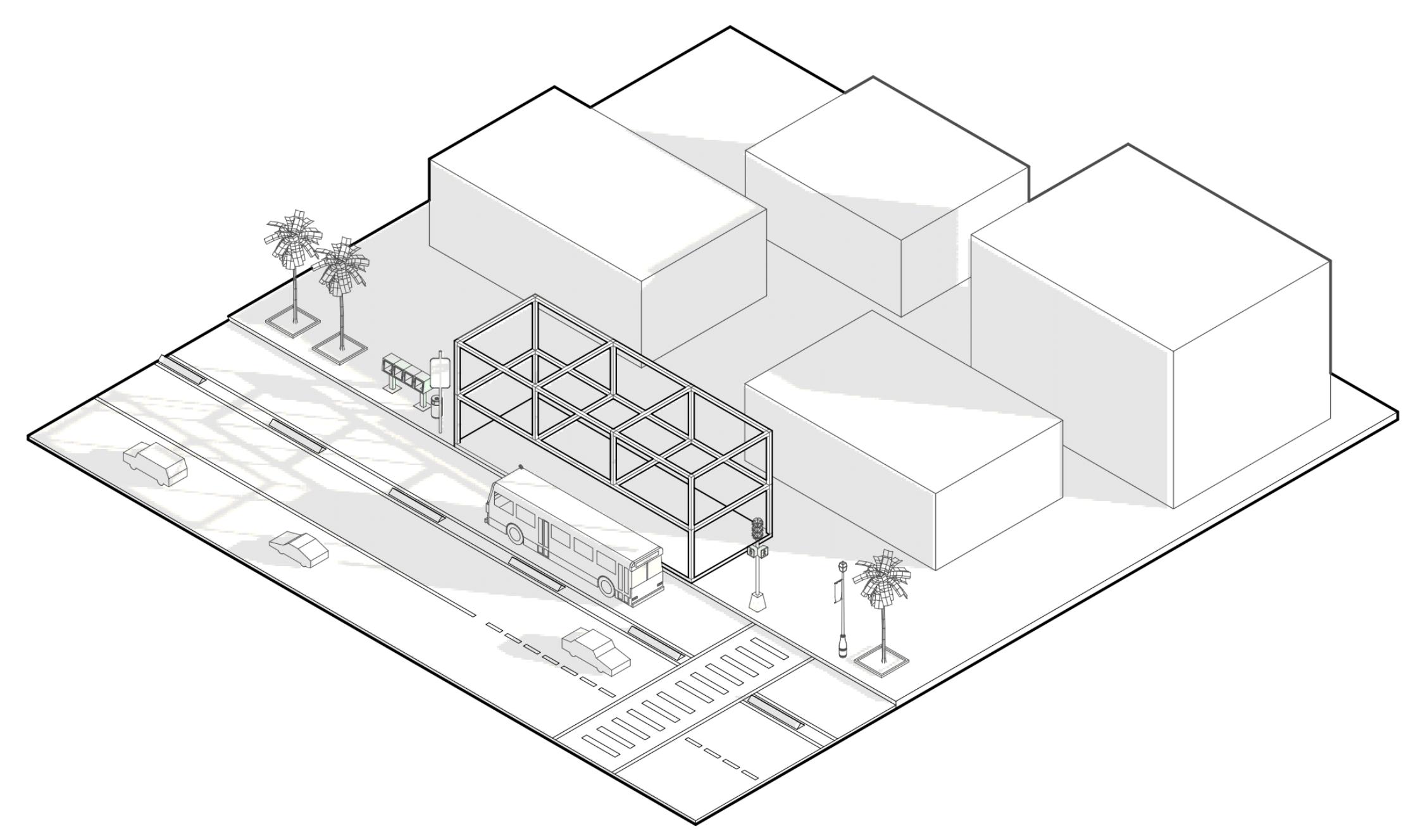 Illustration of  LINK! station design