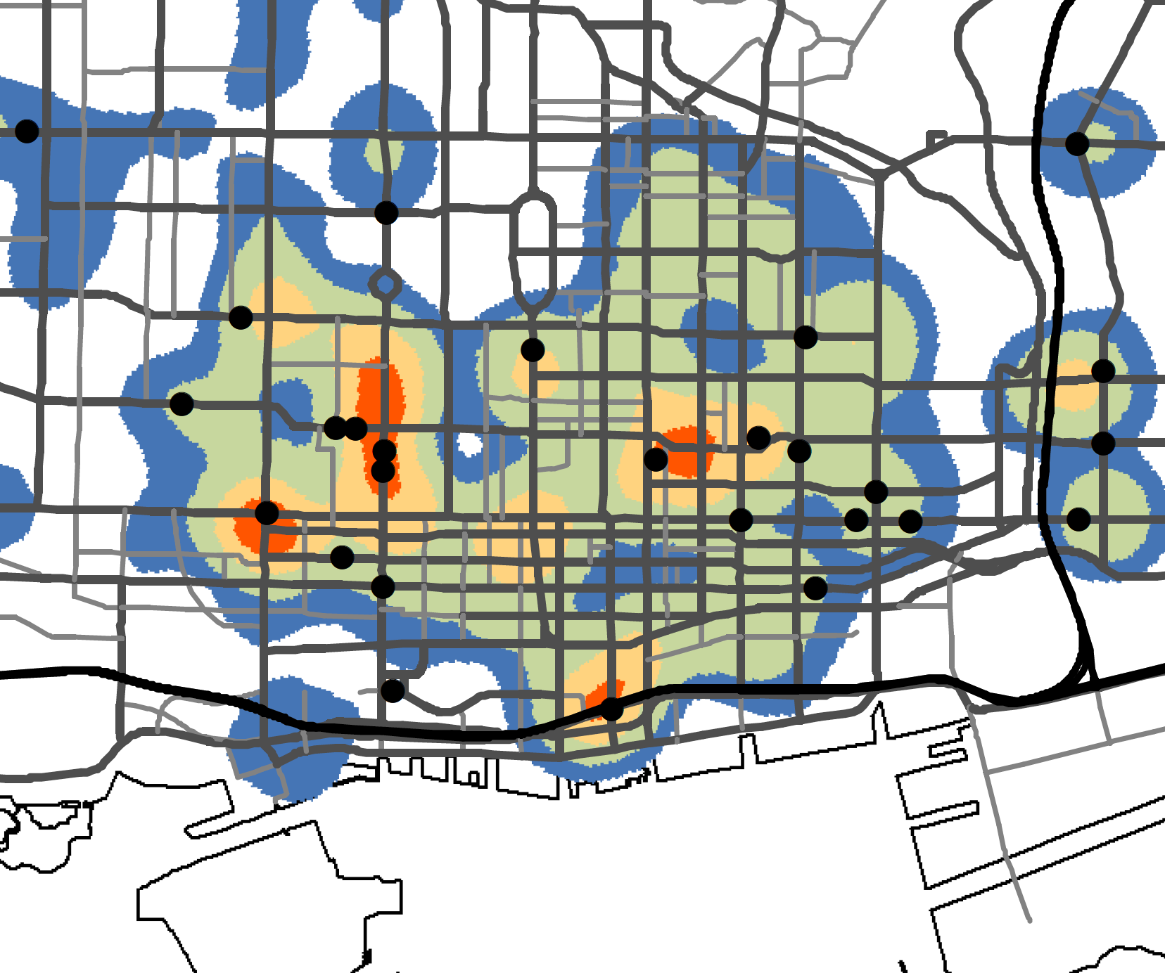 Pedestrian Injury Heat Map