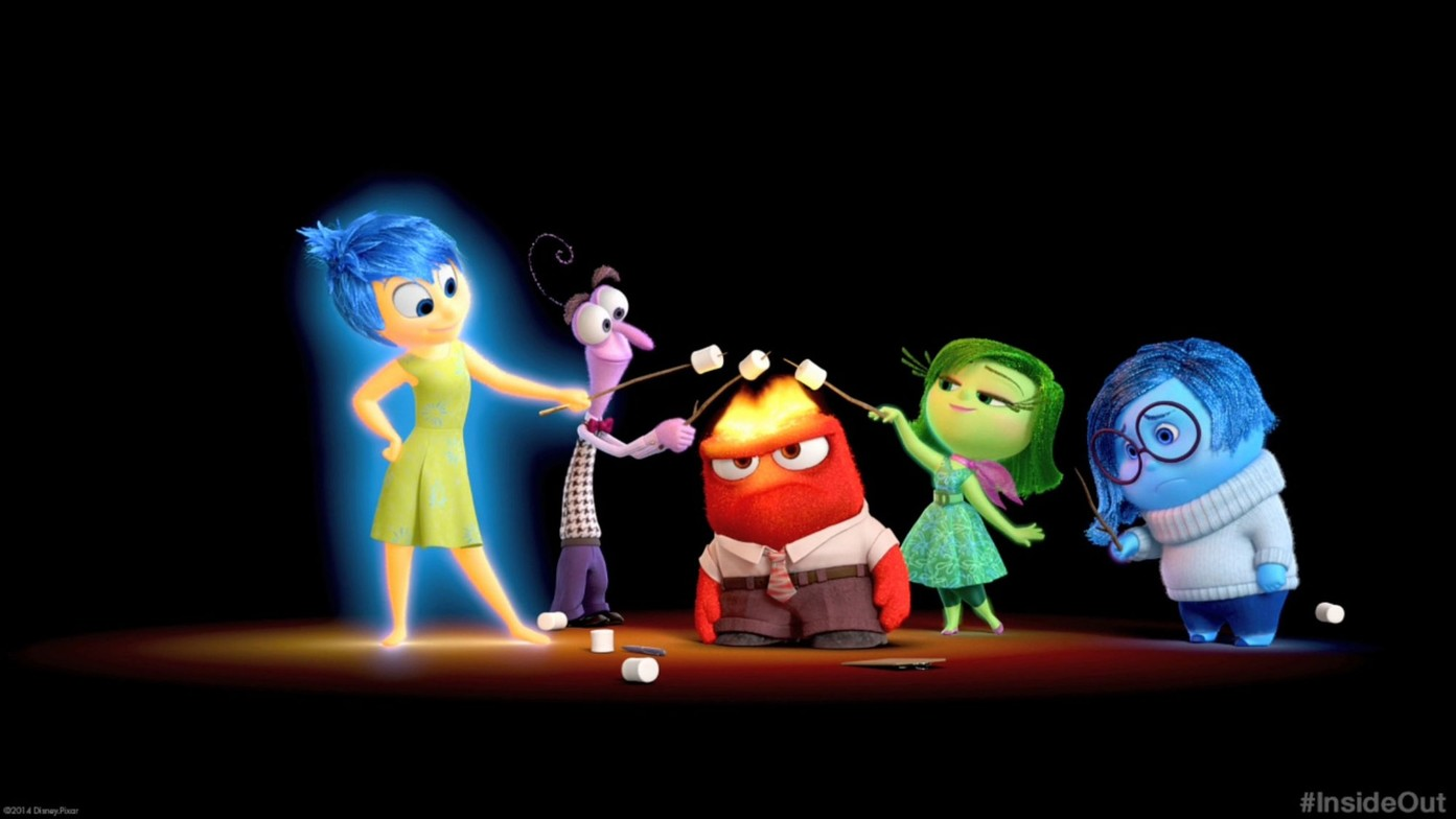 Joy, Fear, Anger, Disgust, and Sadness in  Inside Out