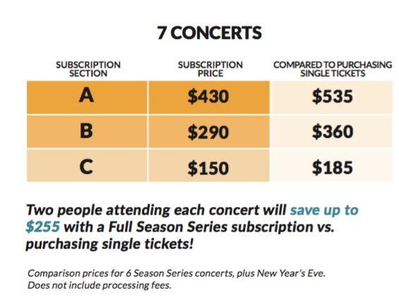 Subscriptions — The Lexington Philharmonic