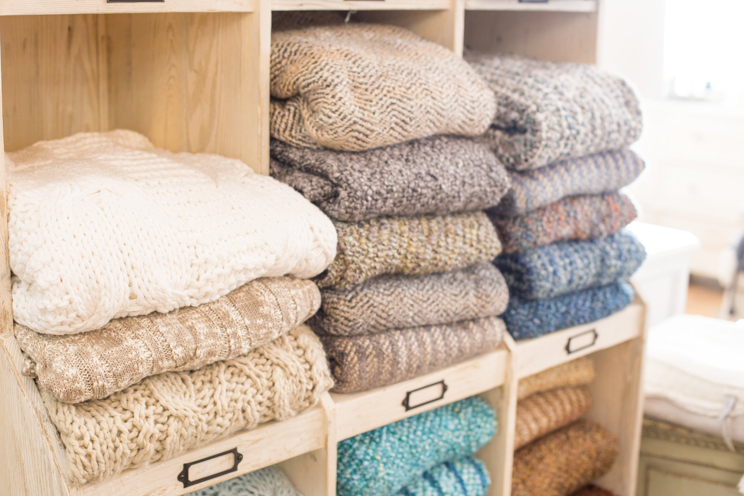Luxury throws and blankets