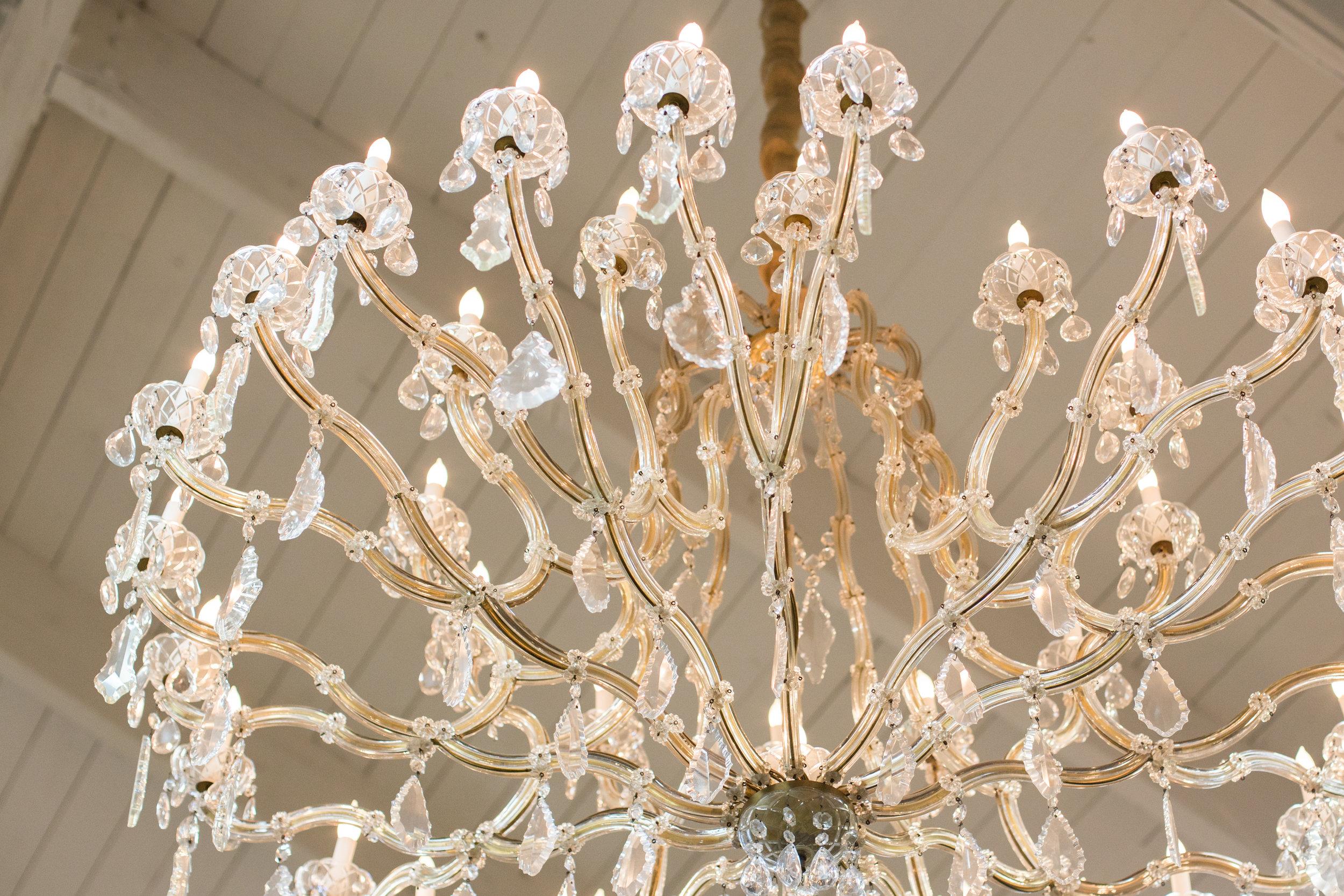 Exquisite crystal chandelier
