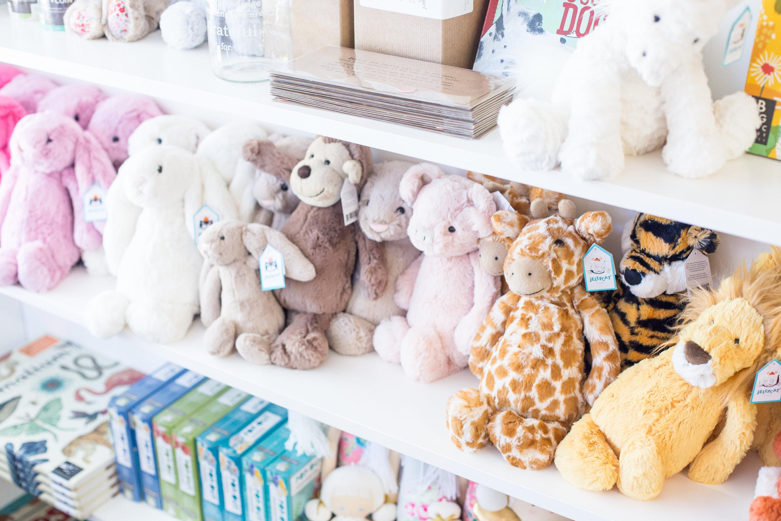 Plush toys, children's books