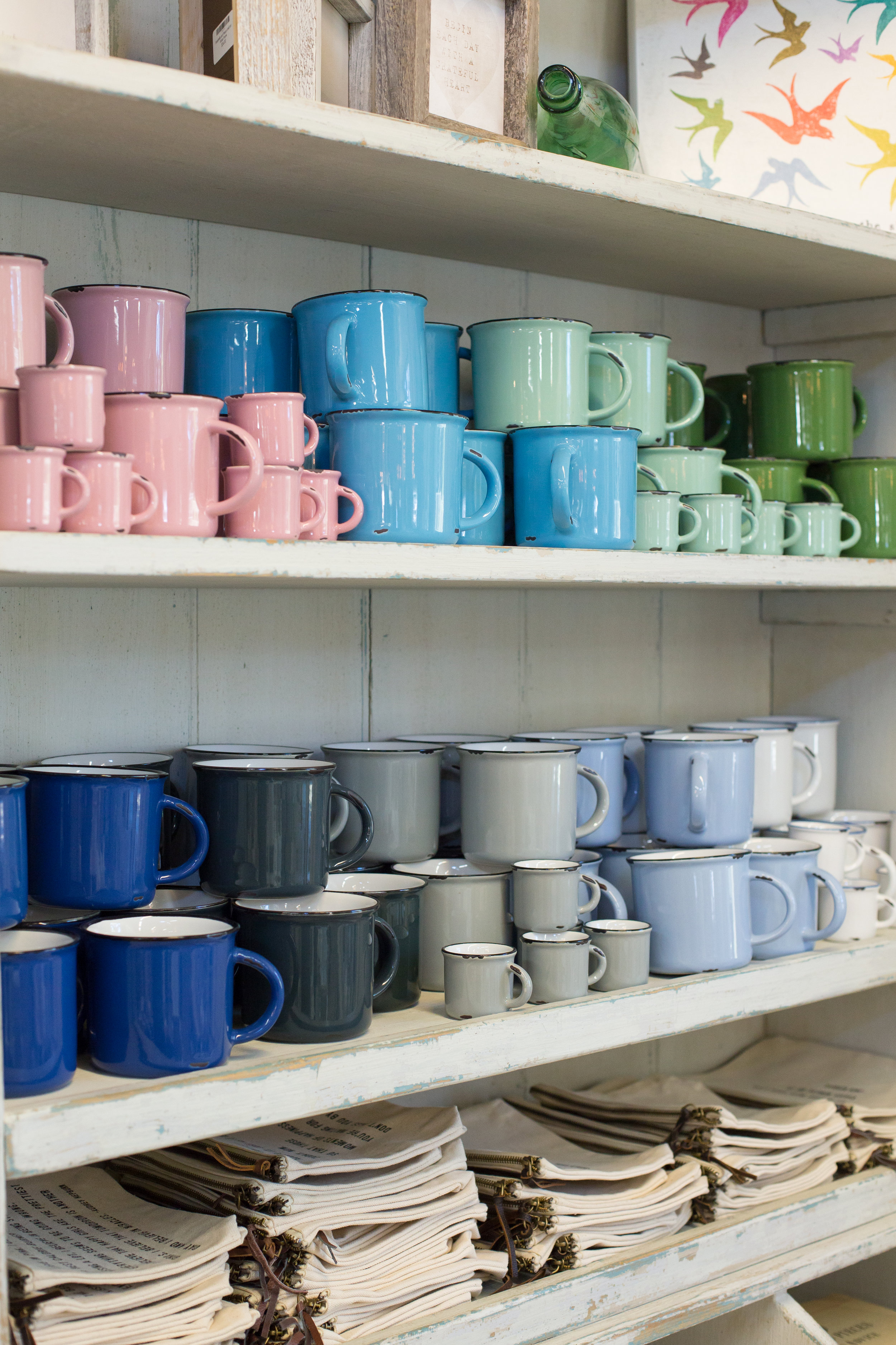 Camping mugs, kitchenware