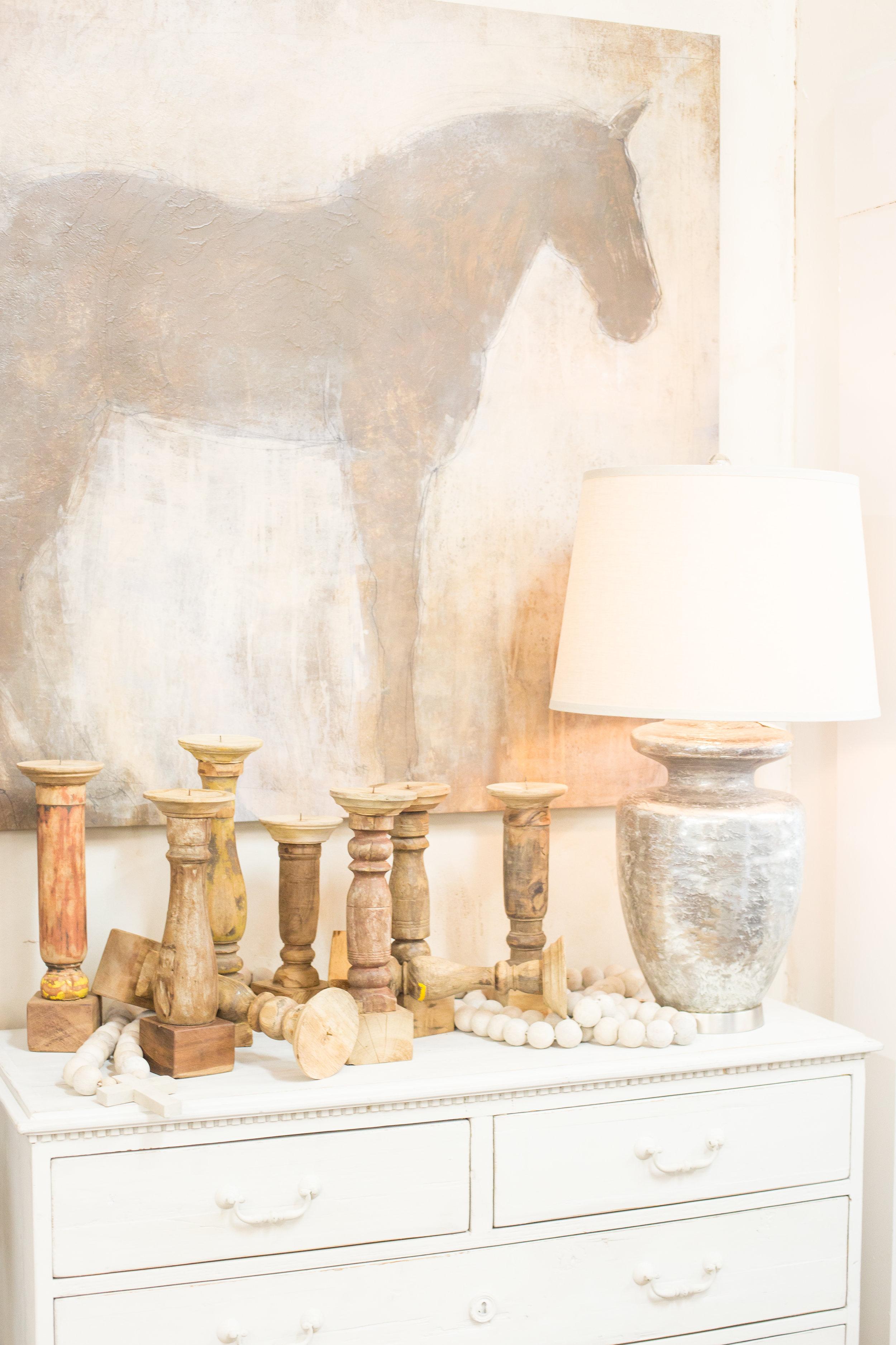 Wood decor, lamp