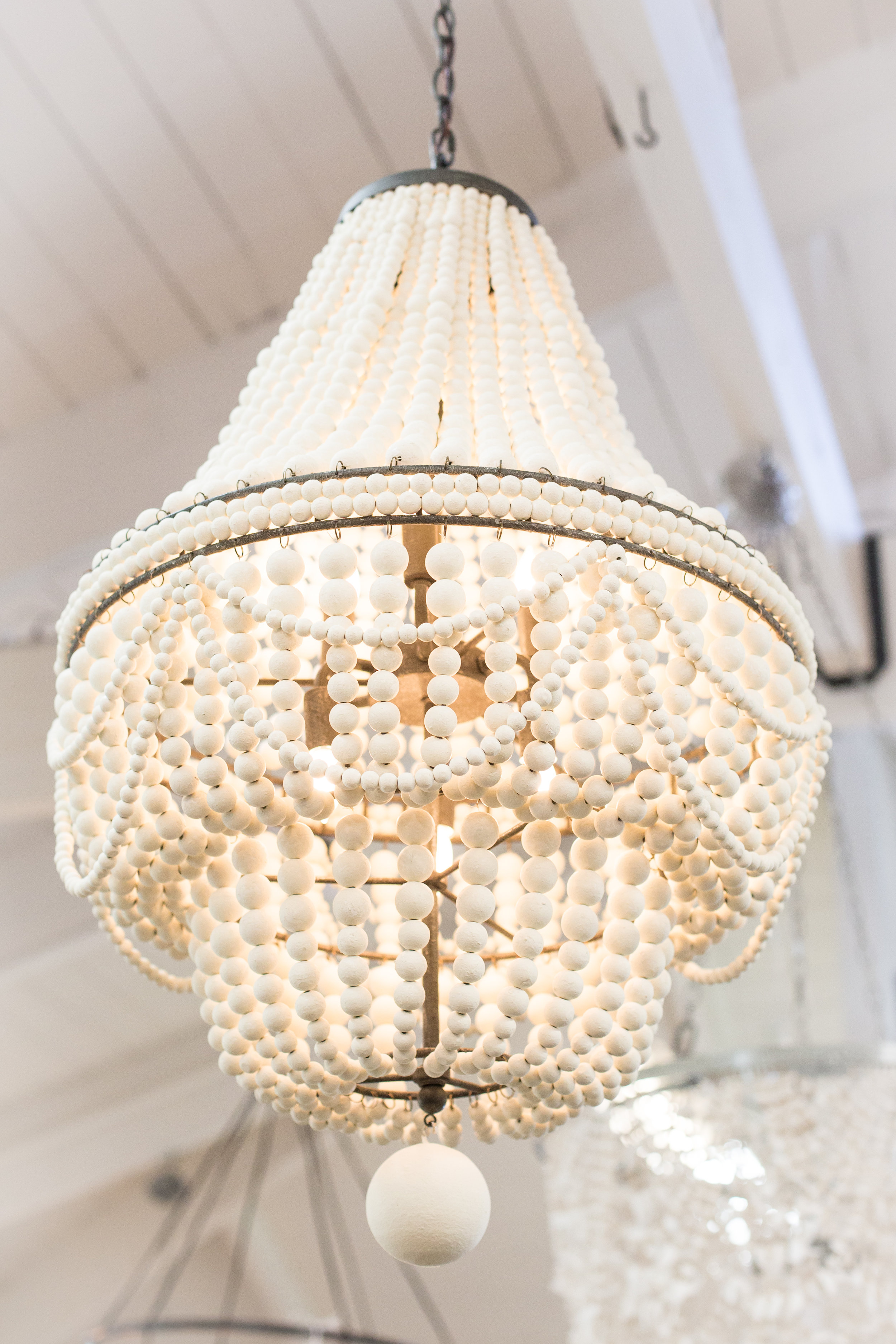 Classic white chandelier