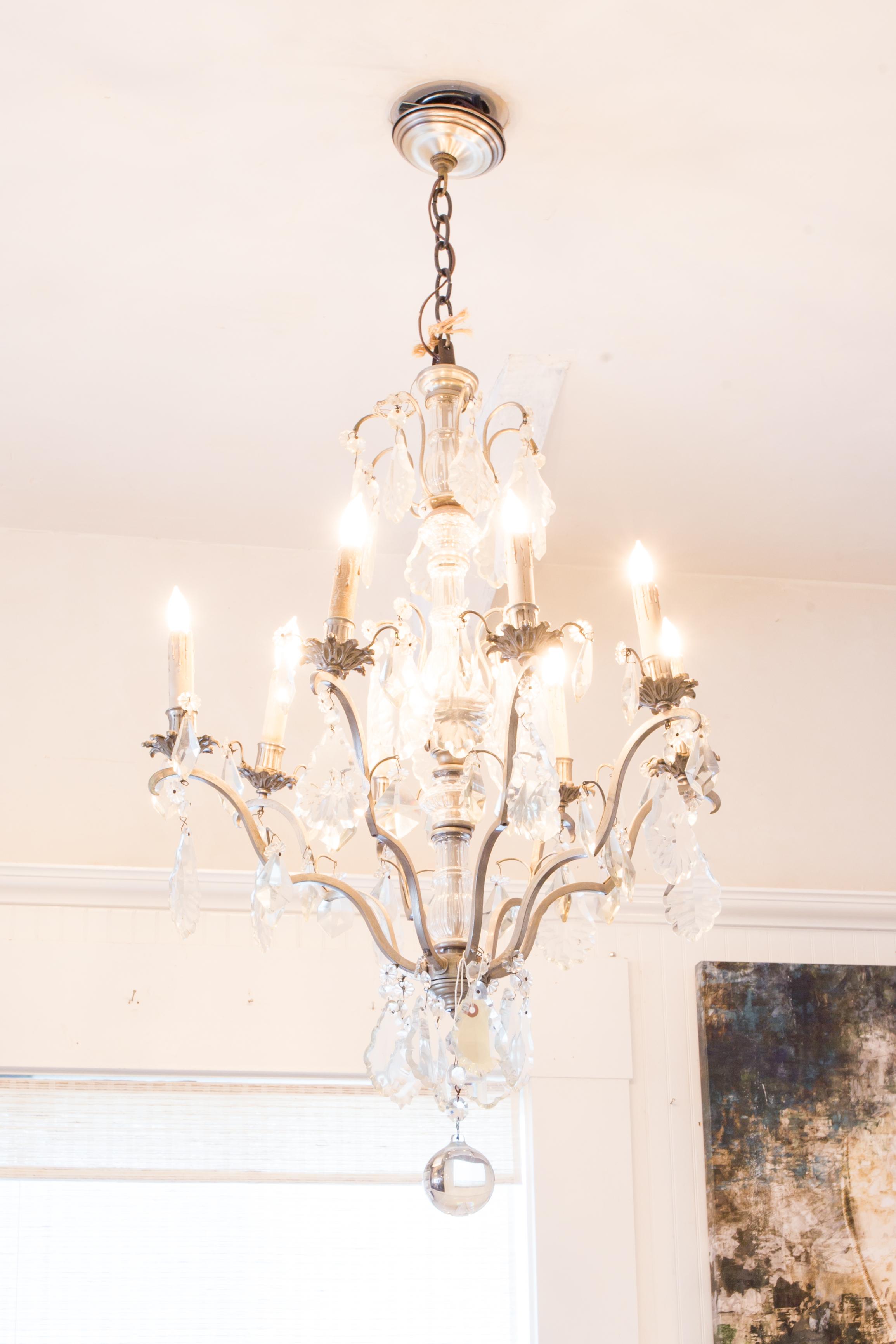 White chic chandelier