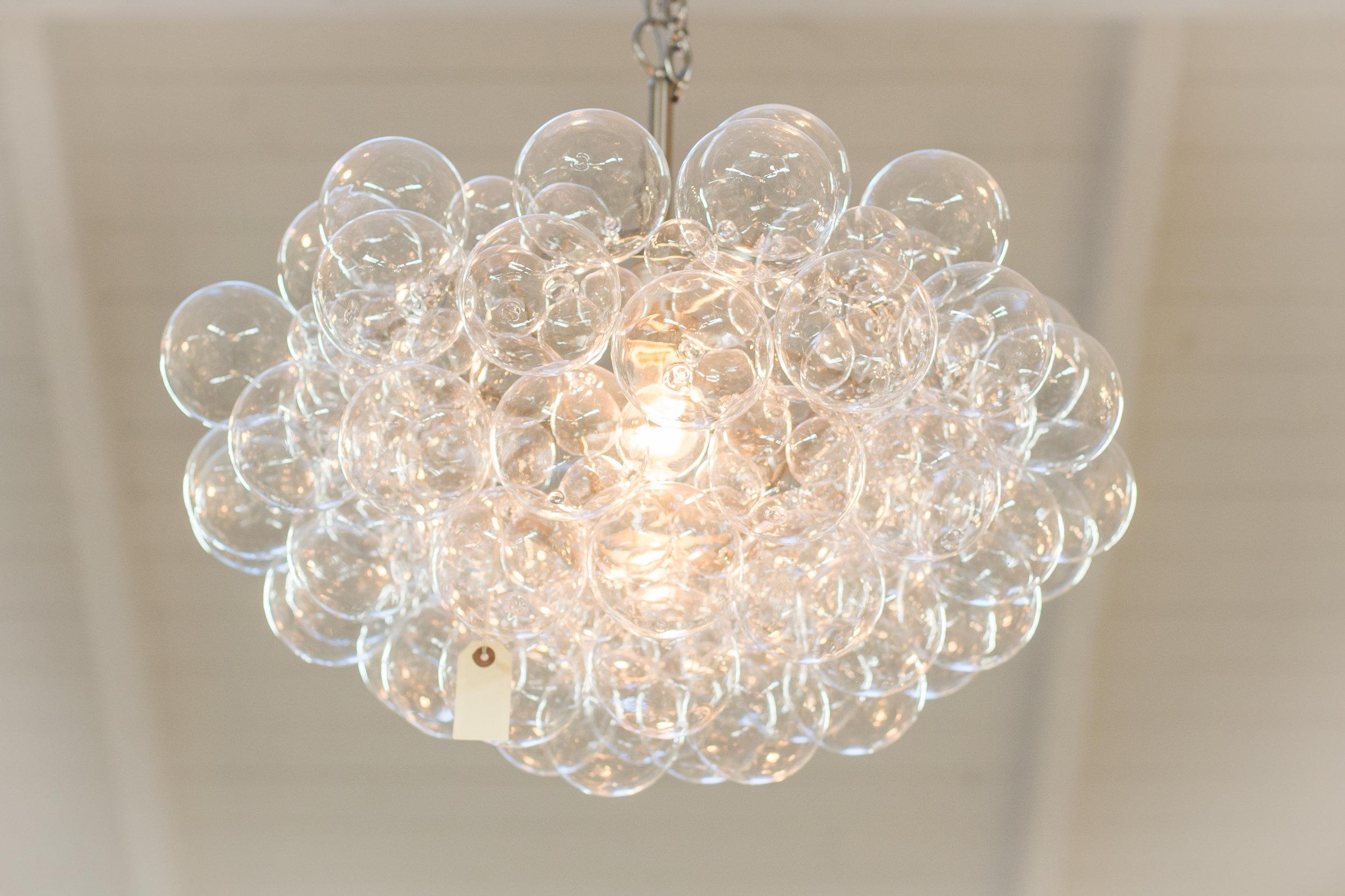 Bubble glass bulb chandelier