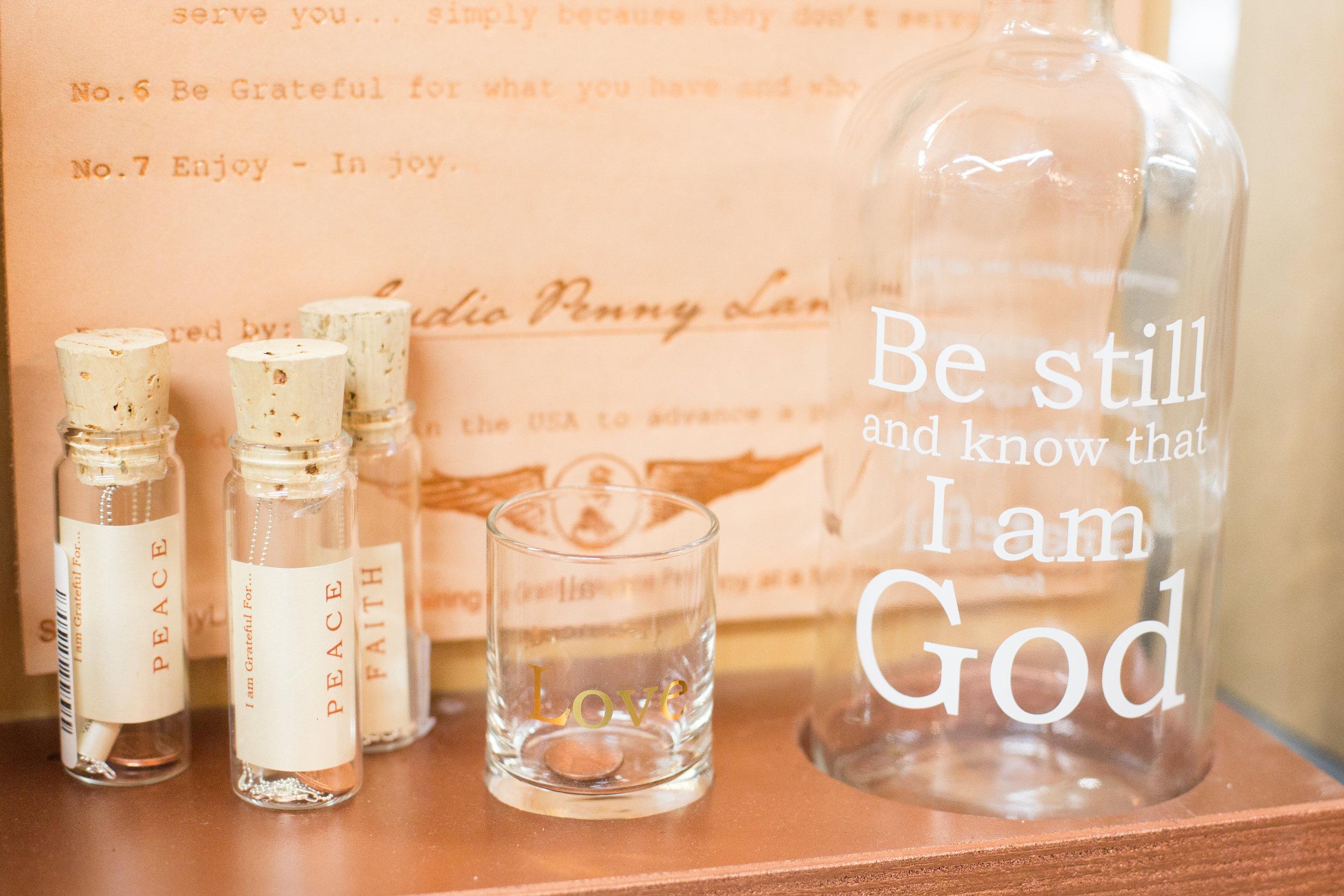 Inspirational glassware