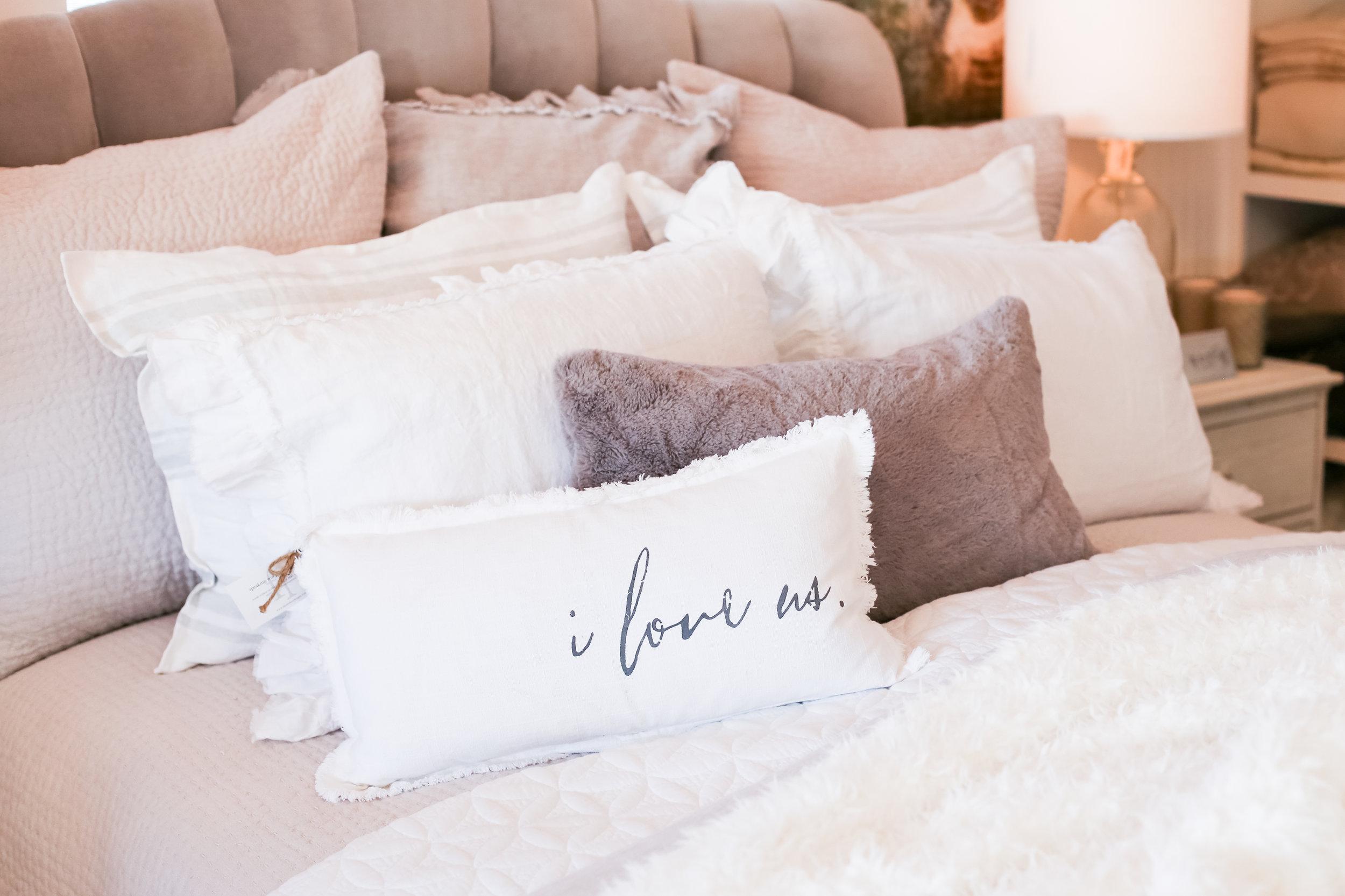 Blush comfortable bedding