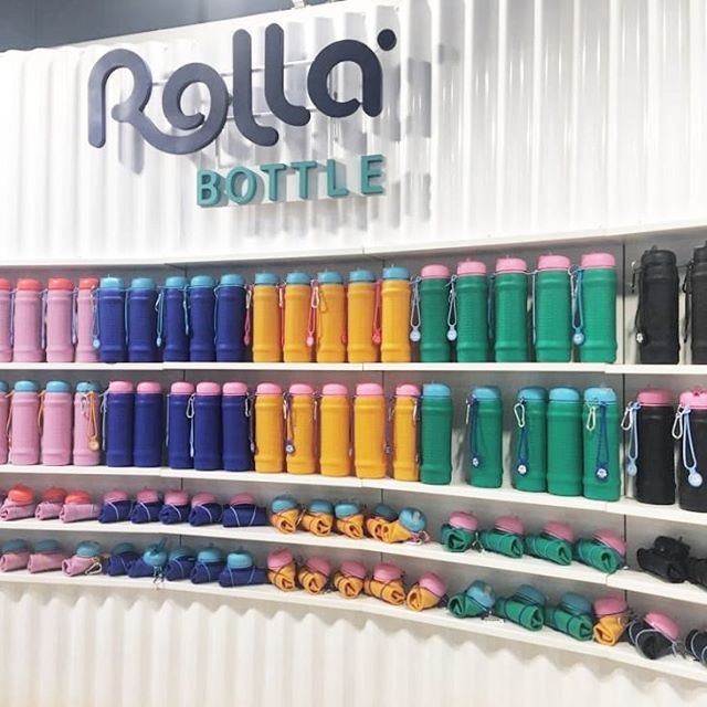 Exhibition stand we built for @rollabottle at the gift fair in Homebush two weeks back. Designed by @paper_moose built by Featheredge #standtallrollsmall . . . . . #exhibitionist #exhibitionstands #creativebuilding #exhibitionstanddesign #rollabottle #gooddesign #corrogated #waterbottle #sydneyfabrication #redblockdesign #featheredge