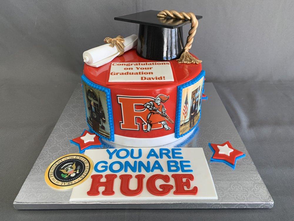 NJ Rutgers Graduation Cake