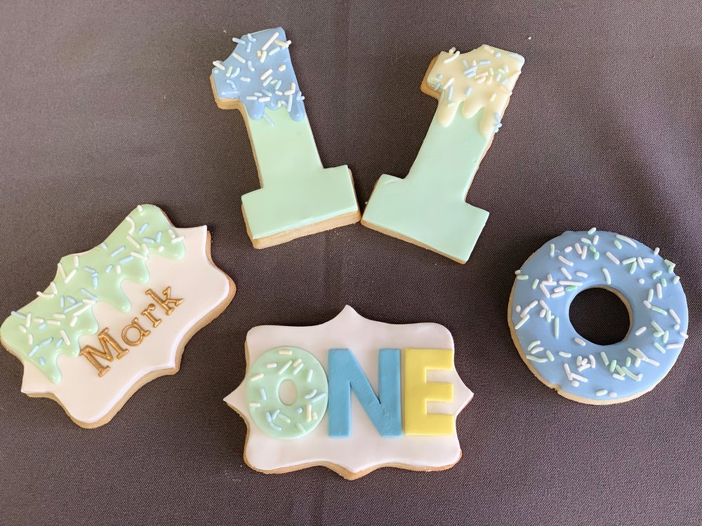 1st Birthday Cake and Cookies Set NJ