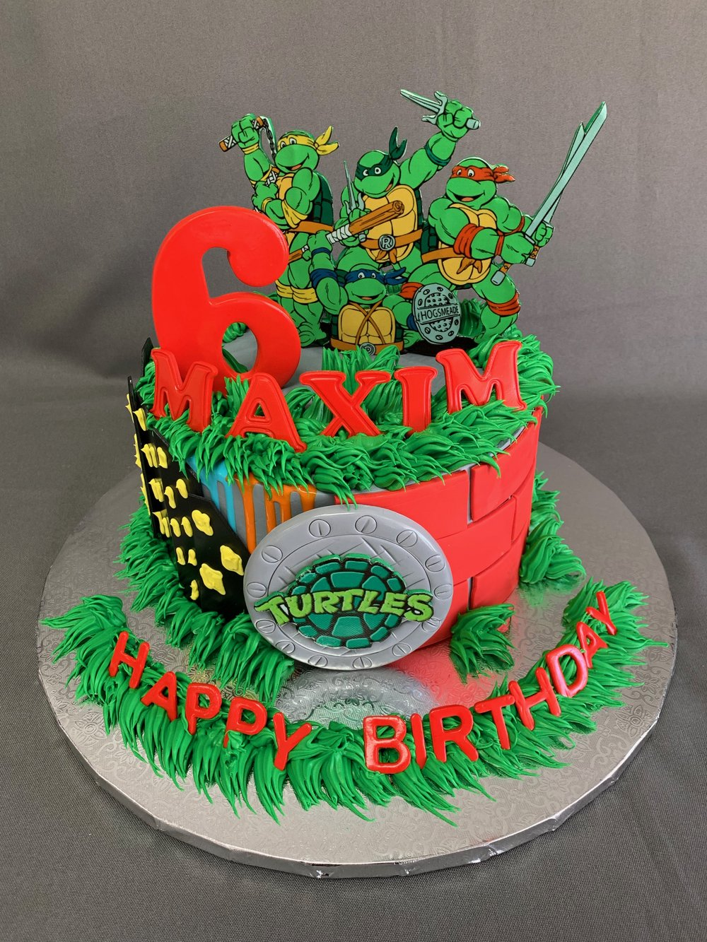 Ninja Turtles Birthday Cake NJ