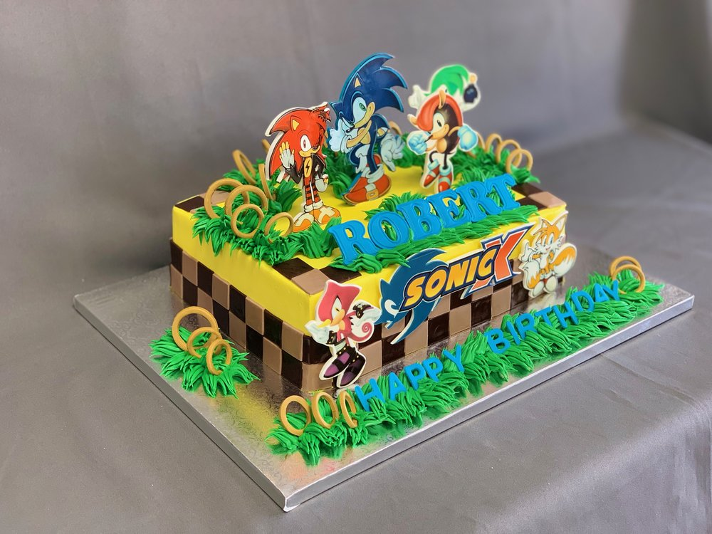 Sonic Birthday Cake Skazka Desserts Bakery Nj Custom Birthday Cakes Cupcakes Shop