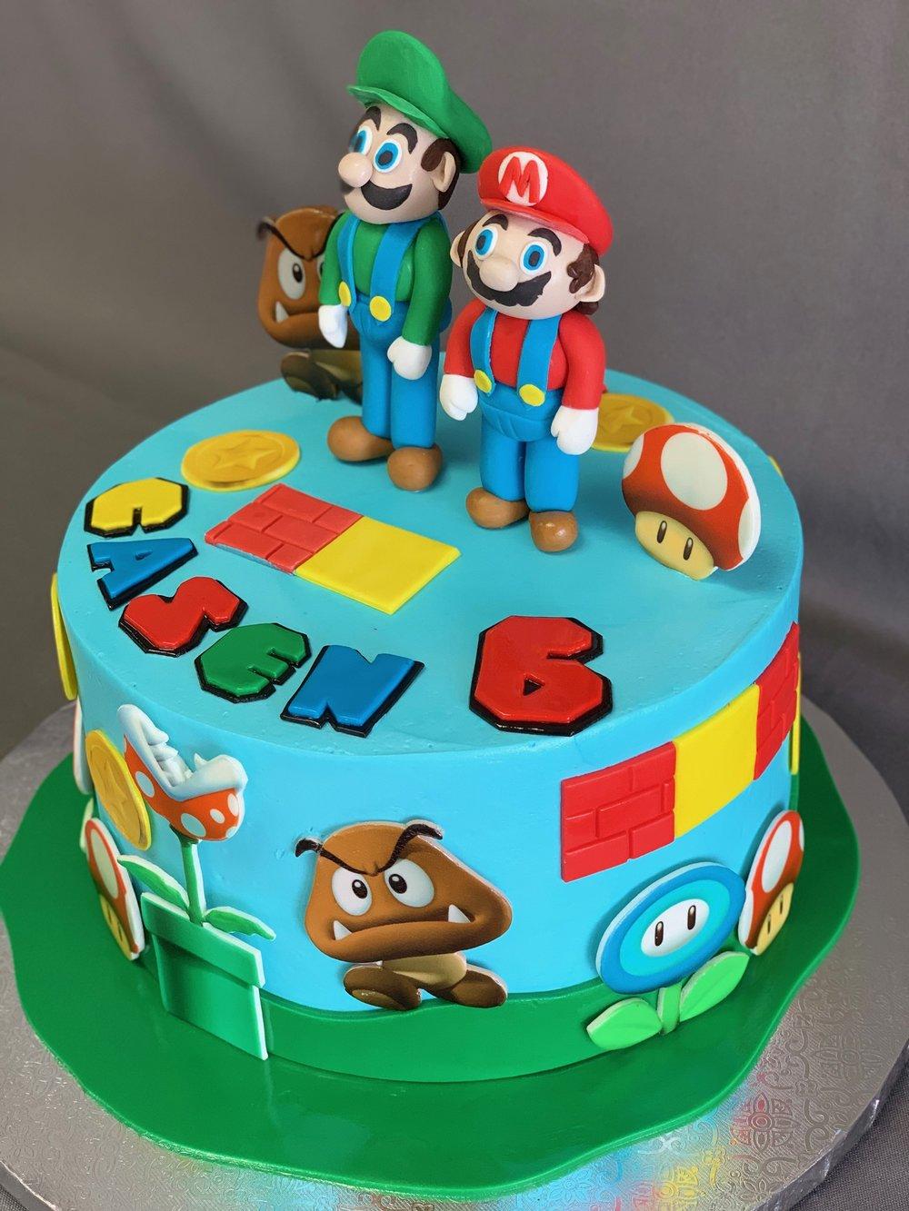 Super Mario Birthday Cake NJ