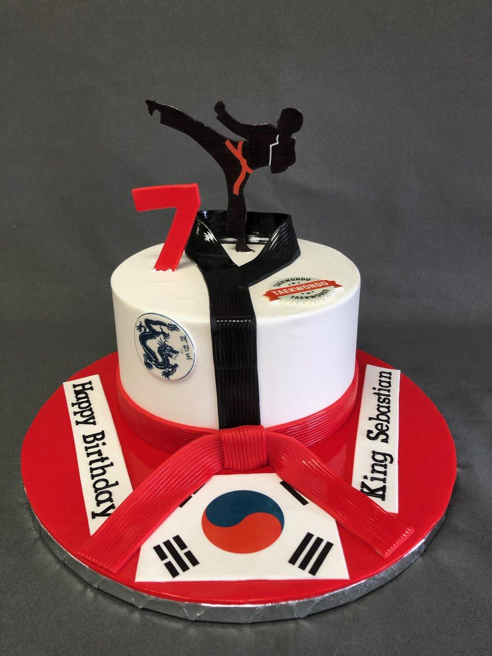 Taekwondo Birthday Cake NJ