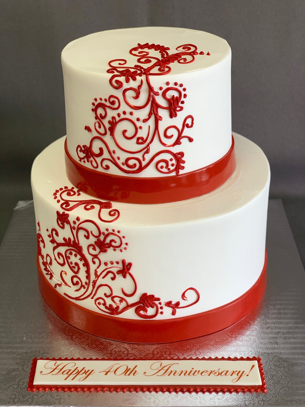 Best 40th Anniversary Cake