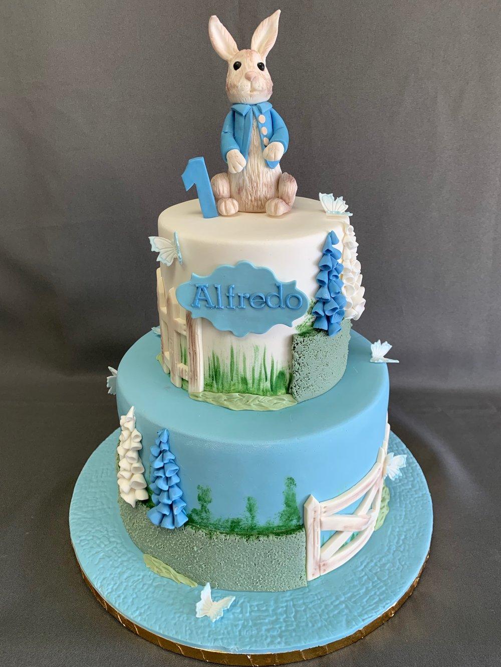 Peter Rabbit 1st Birthday Cake NJ