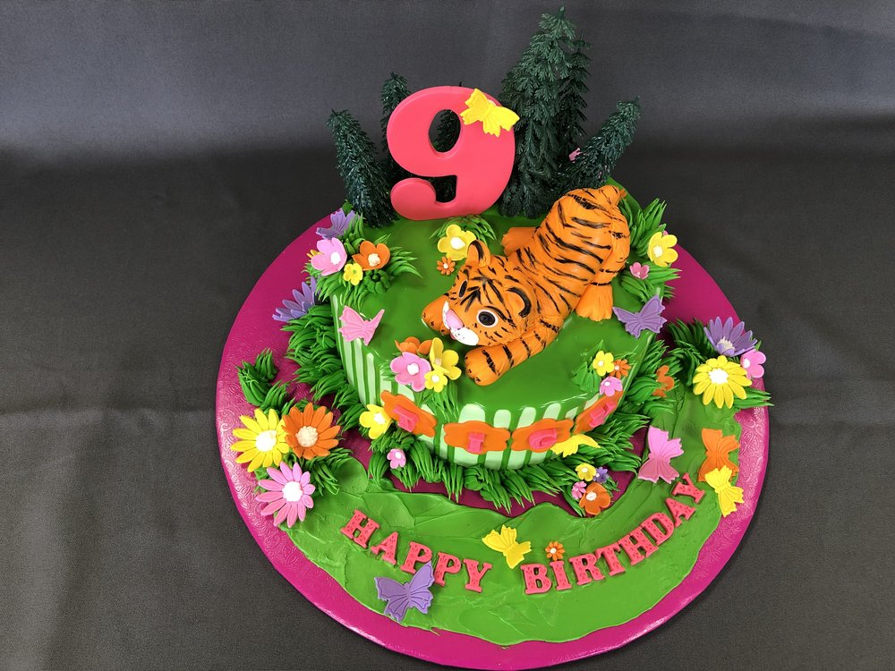 Tiger Themed Birthday Cake New Jersey