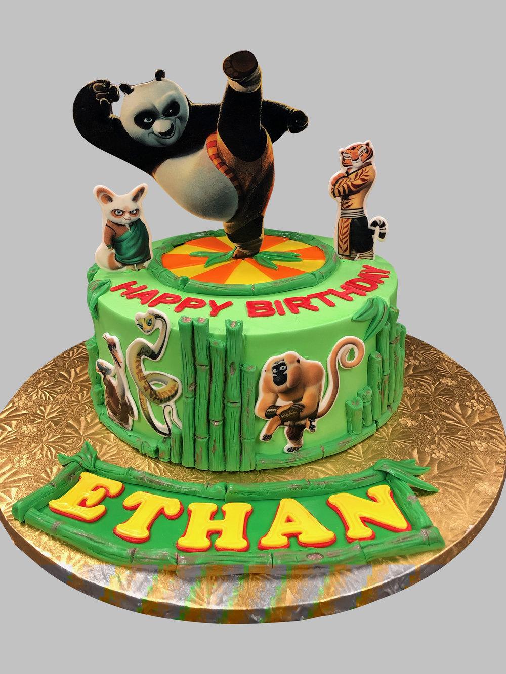 Kung Fu Panda Birthday Cake NJ