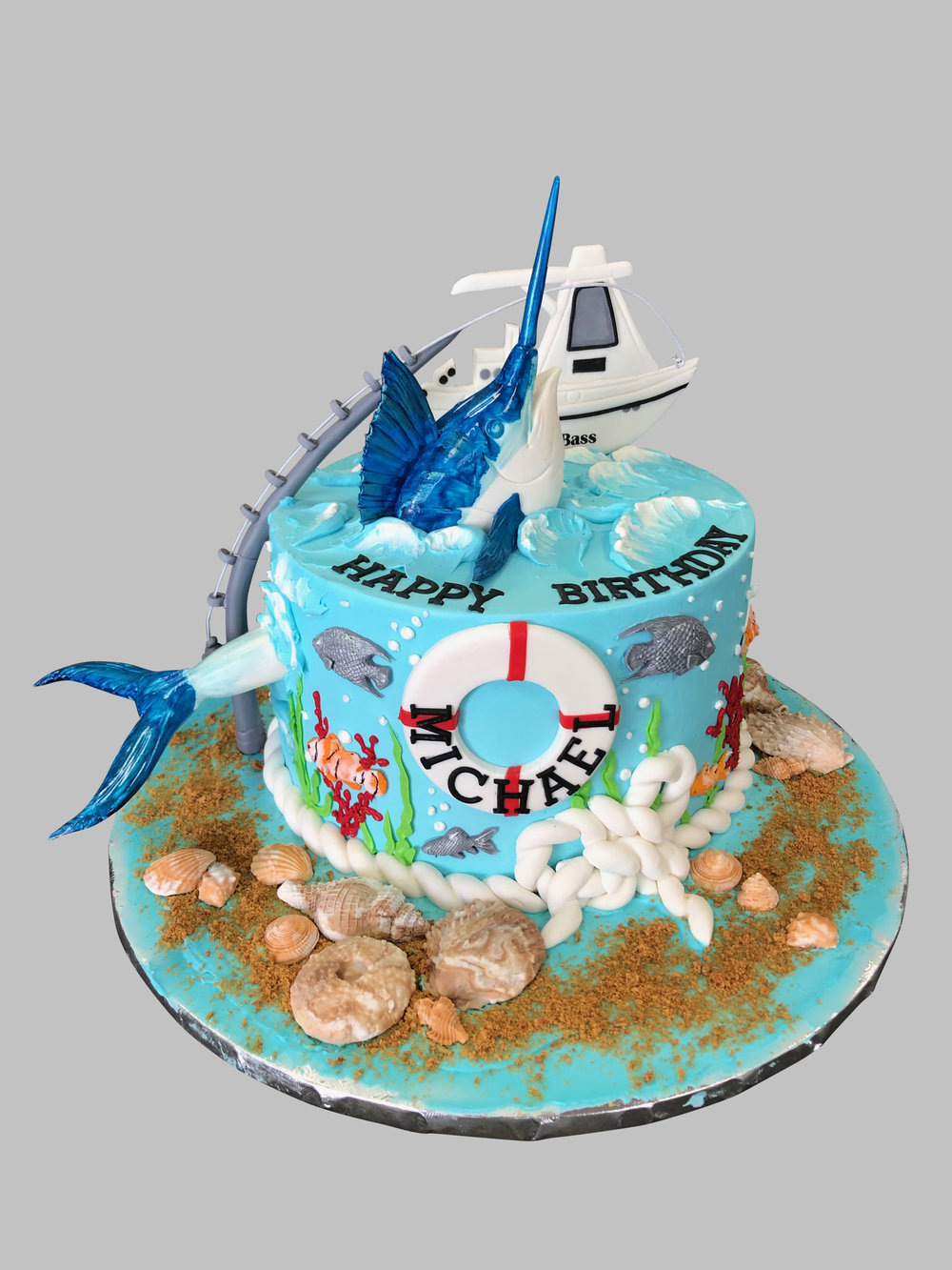 Fishing Birthday Cake NJ