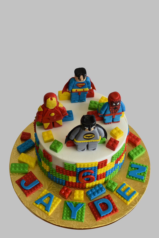 Lego Theme Birthday Cake NJ