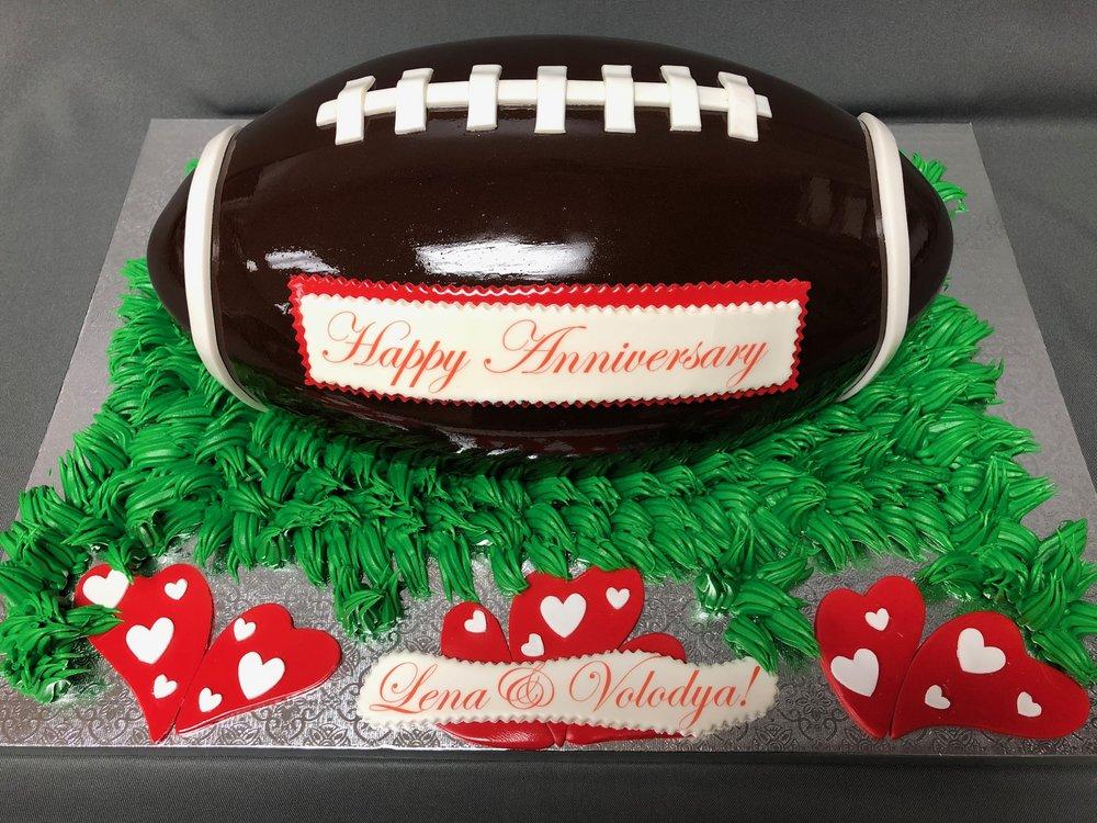 NJ 2D Anniversary Football Cake