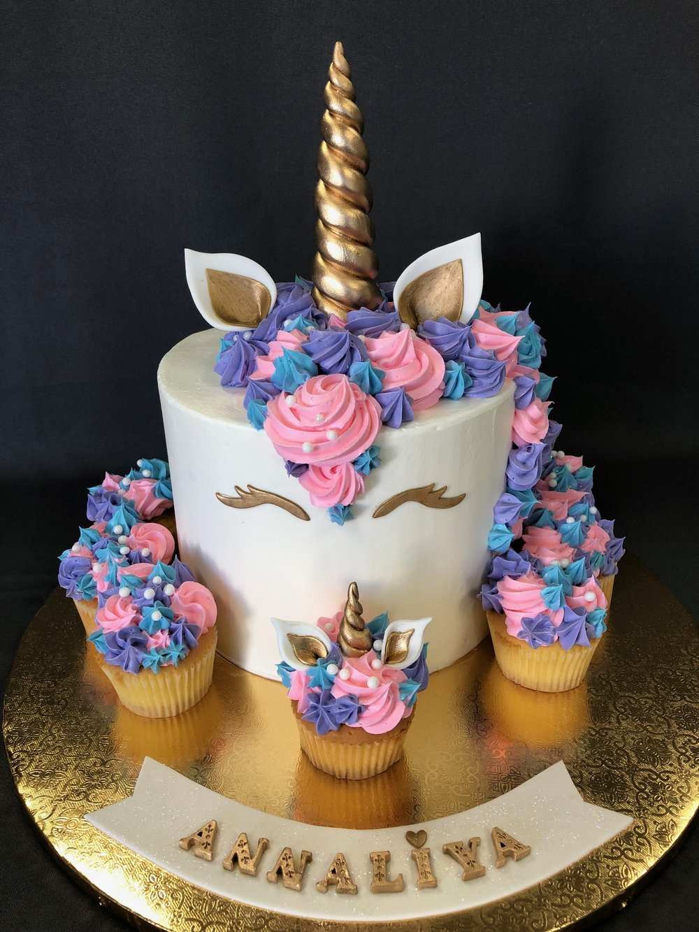 Unicorn Birthday Cake With Cupcakes NJ