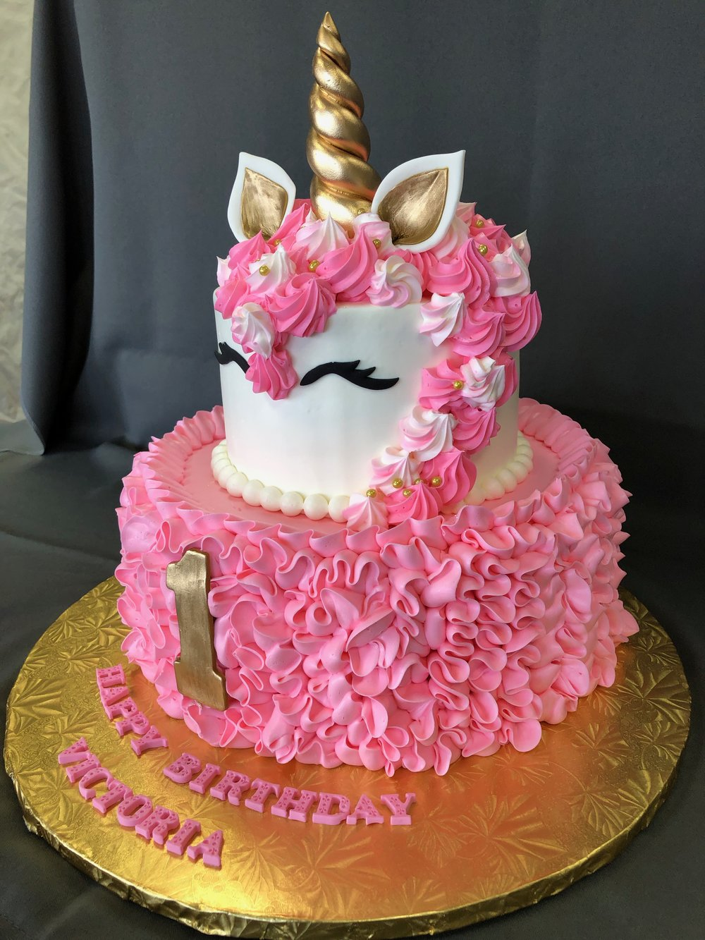 First Birthday Unicorn Cake NJ