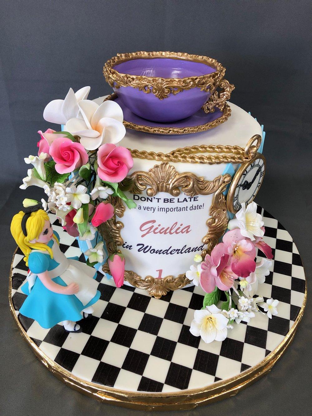 Alice In Wonderland Birthday Cake NJ
