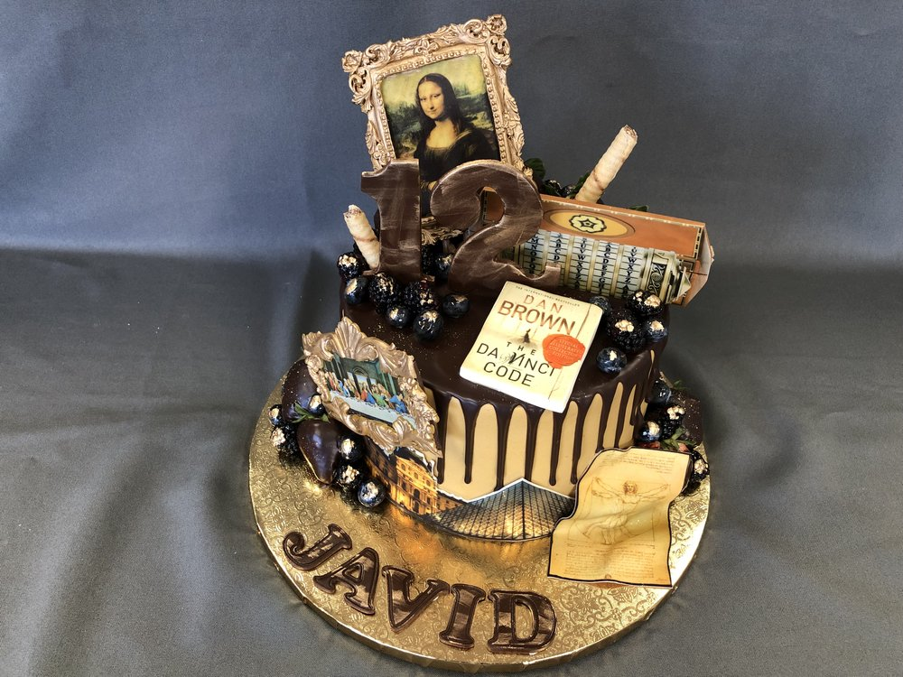 NJ Da Vinci Birthday Cake