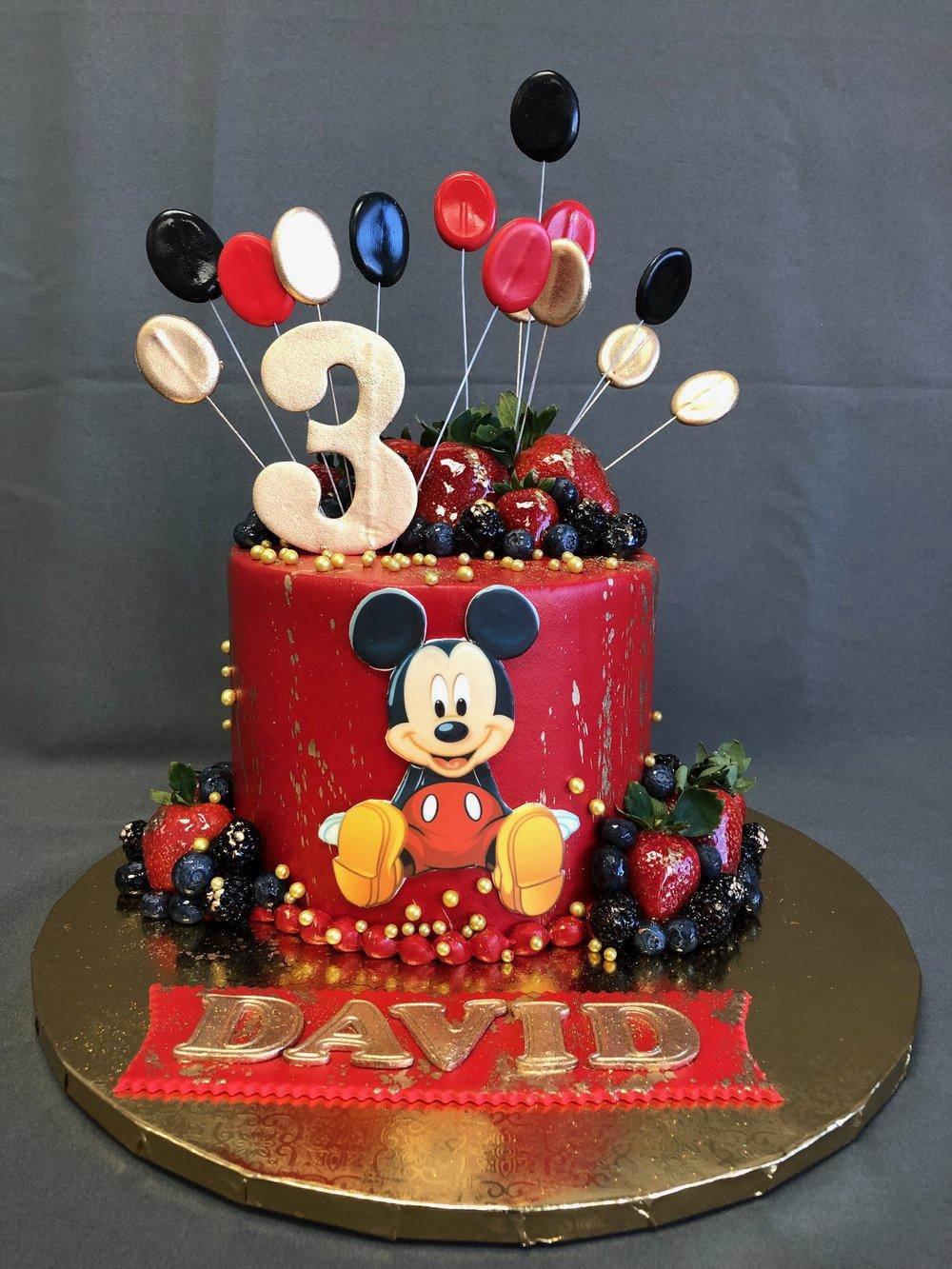 Mickey Mouse Birthday Cake — Skazka ...