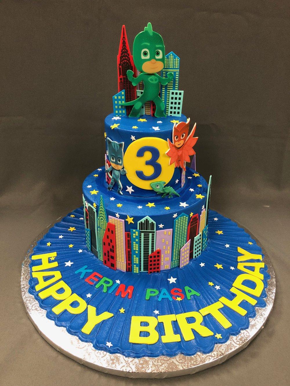 JP Masks Themed Birthday Cake New Jersey