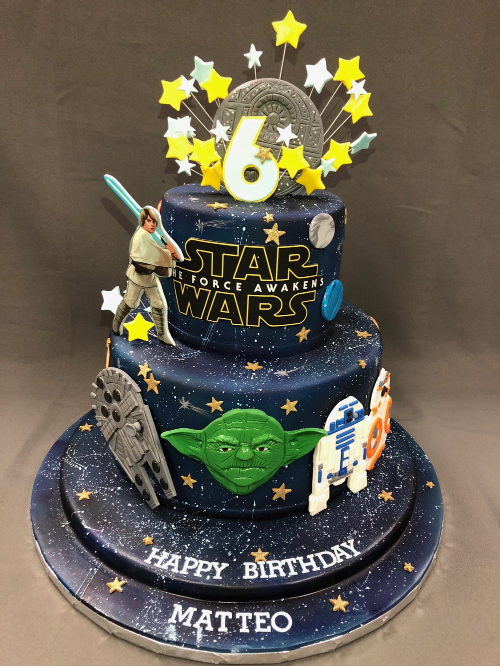 Star Wars Theme Birthday Cake New Jersey