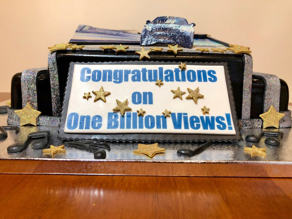 Music Best Video 1 Billion Views Celebration Cake