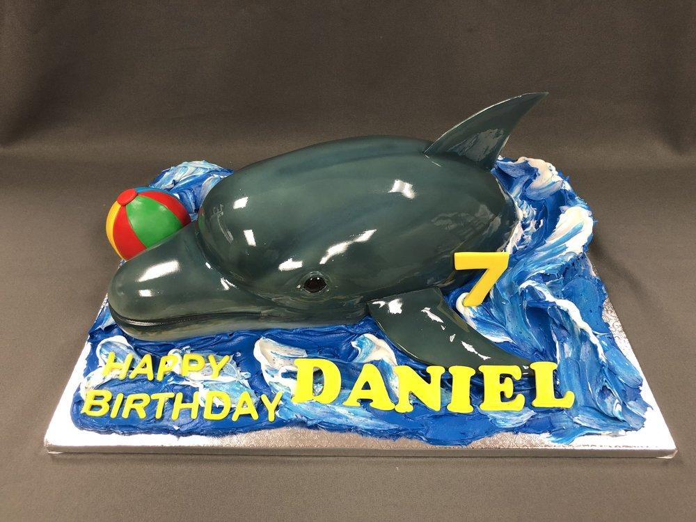 3D Dolphin Birthday Cake New Jersey
