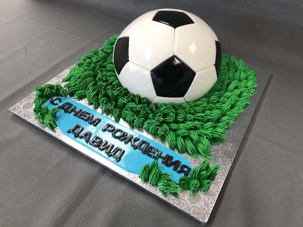 3D Soccer Ball Birthday Cake NJ
