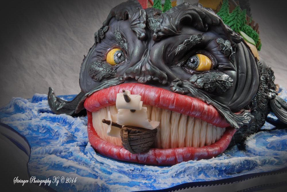 3D Monster-Wonder-Whale Cake NJ