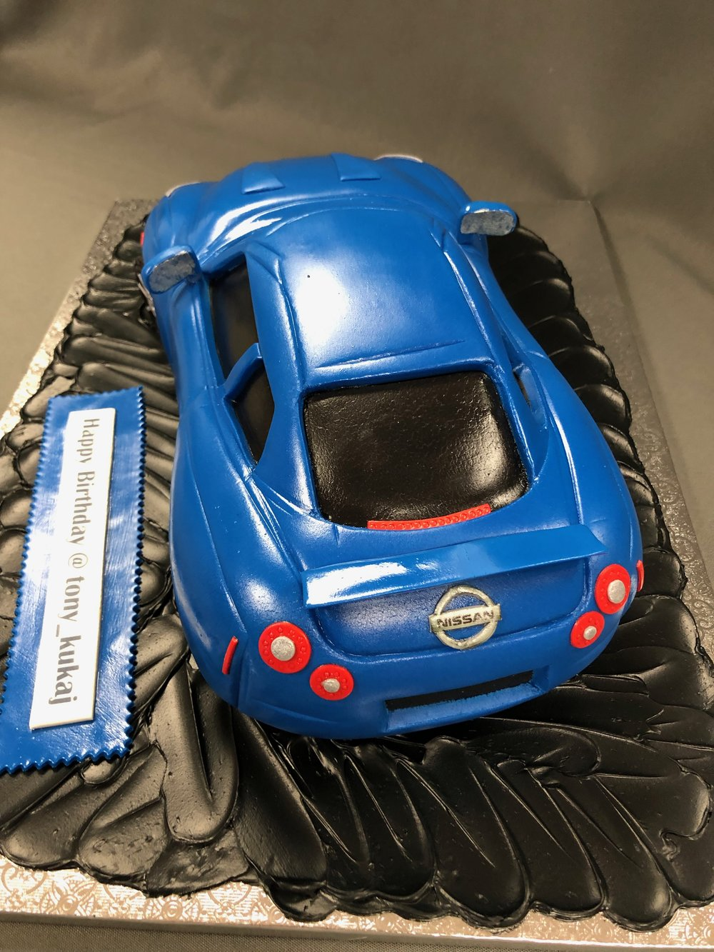 3D Nissan GTR Birthday Cake NJ